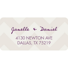 Chevron Pattern -- Baby Address Labels