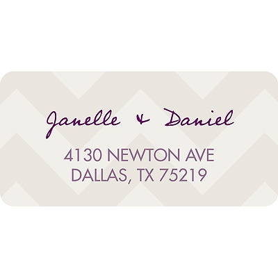 Chevron Pattern Baby Address Labels