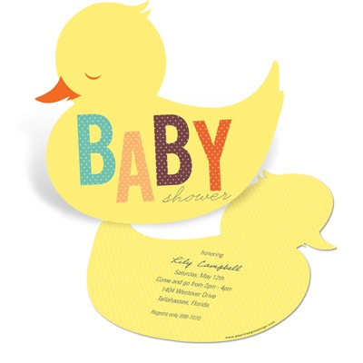 Baby Duckling -- Duck Baby Shower Invitations