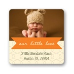 Ribbon Message -- Photo Return Address Labels