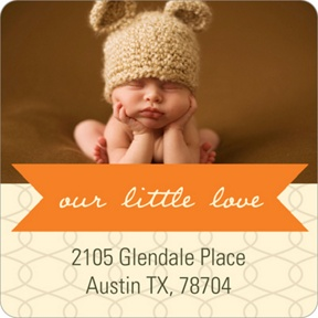 Ribbon Message -- Baby Address Labels