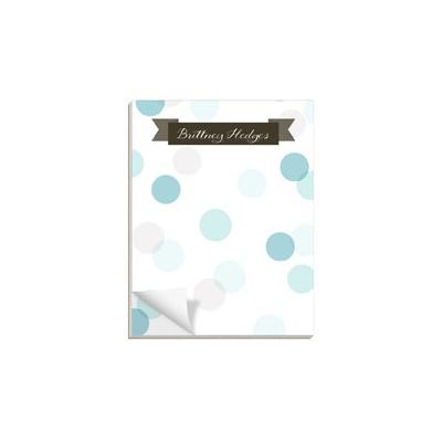 Dot To Dot Blue Custom Notepads