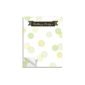 Dot To Dot Green -- Custom Notepads