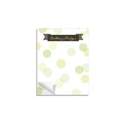 Dot To Dot Green Custom Notepads