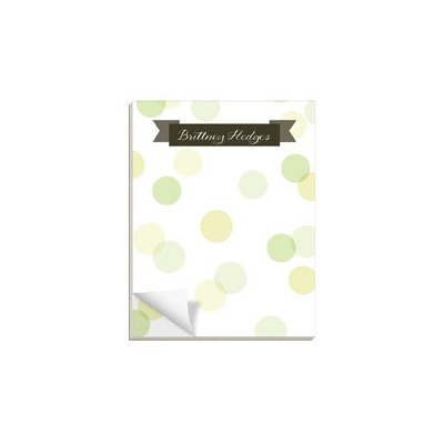 Dot To Dot Green Notepads