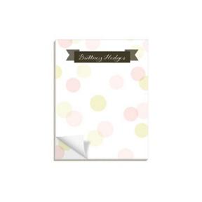 Dot To Dot Pink -- Custom Notepads