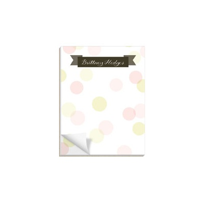 Dot To Dot Pink Custom Notepads