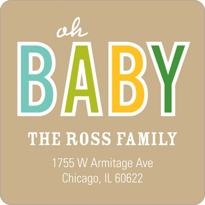 Baby Talk Boy Baby Address Labels