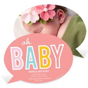 Baby Talk Girl -- Birth Announcements