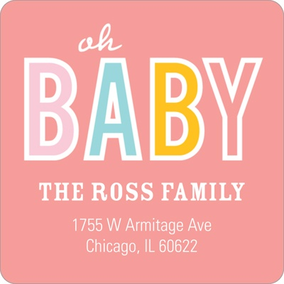 Baby Talk -- Baby Return Address Labels