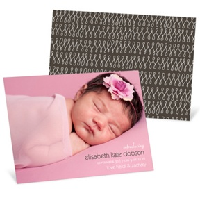 Lasting Introduction Horizontal -- Birth Announcements