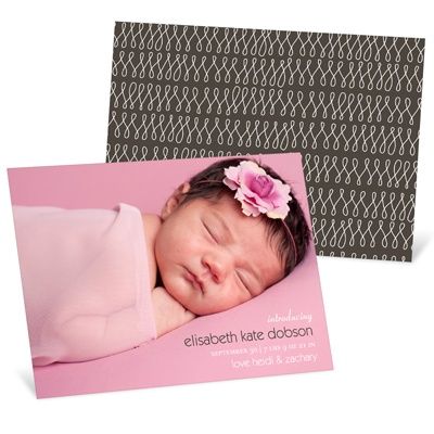 Lasting Introduction Horizontal Photo -- Photo Birth Announcements