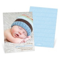 Lasting Introduction Vertical Birth Announcements