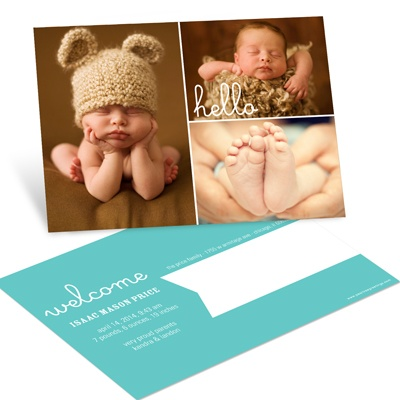 First Introduction Postcards Boy Birth Announcements