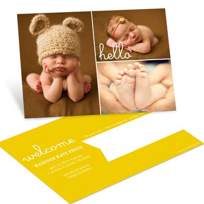 First Introduction Postcards Girl Birth Announcements