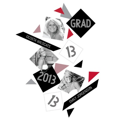 Geometric Bliss -- Graduation Confetti
