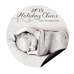 Sweetly Swirling Magnet -- Christmas Cards