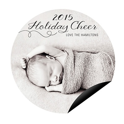 Sweetly Swirling Magnet Photo Christmas Cards