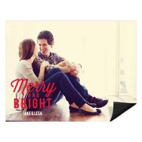 Festive Phrase Horizontal Magnet -- Christmas Cards