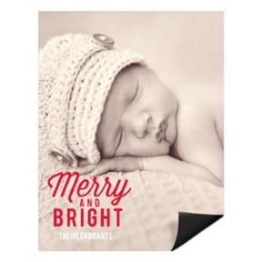 Festive Phrase Vertical Magnet -- Christmas Cards