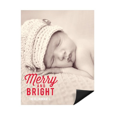Festive Phrase Vertical Magnet Holiday Photo Cards