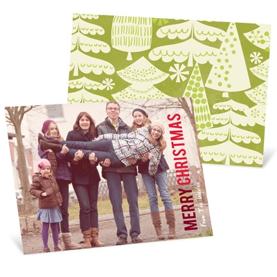 Merry Treescape -- Horizontal Holiday Photo Cards