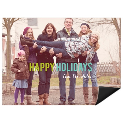 Contemporary Holidays Magnet Holiday Photo Cards
