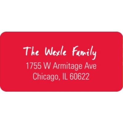 Simple Elegance Christmas Address Labels