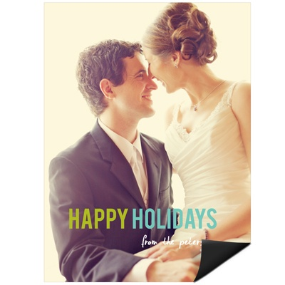 Contemporary Christmas -- Holiday Photo Magnets