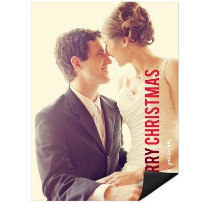 Contemporary Christmas Vertical Magnet Holiday Photo Cards