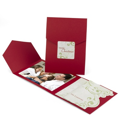 Holly Haven Photo Card - Cranberry