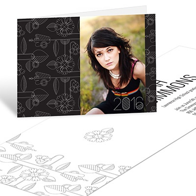 Flower Power Horizontal -- Graduation Announcements
