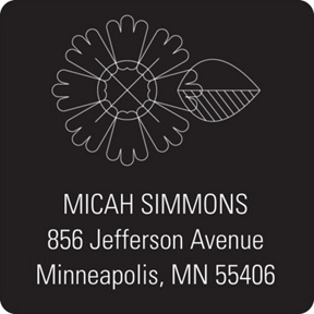 Flower Power  -- Graduation Address Labels
