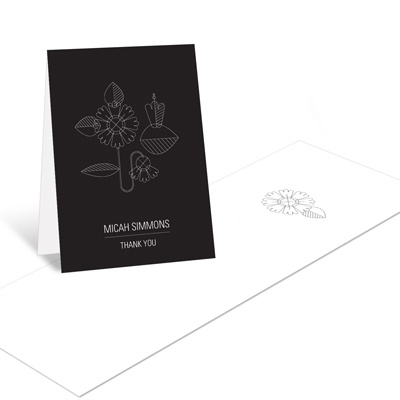 Flower Power  Graduation Thank You Cards