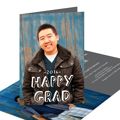 Happy Grad Vertical  Graduation Announcements