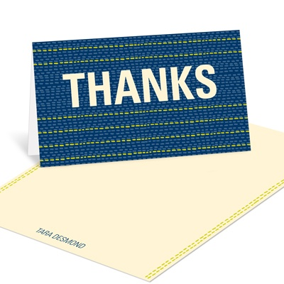 Stitch in Time  -- Graduation Thank You Cards