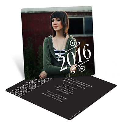 Embellished Year Graduation Announcements