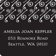 Embellished Year Graduation Address Labels