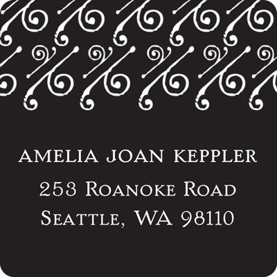 Embellished Year Graduation Address Labels