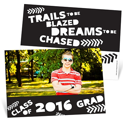 Trail Blazer Horizontal Graduation Announcements