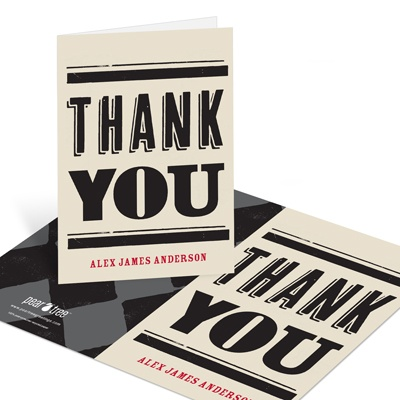 Check It Out Graduation Thank You Cards