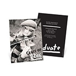 Brush Strokes -- Graduation Announcements