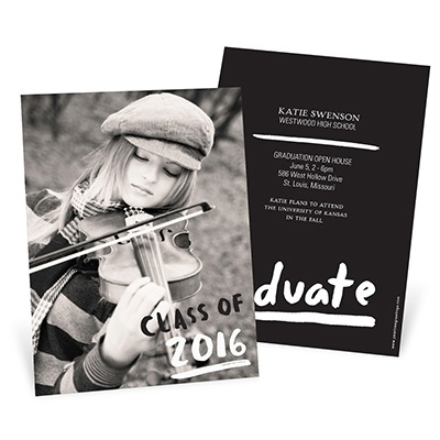 Brush Strokes Graduation Announcements