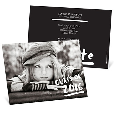 Brush Strokes Horzontal -- Graduation Announcements