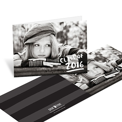 Brush Strokes -- Graduation Thank You Cards