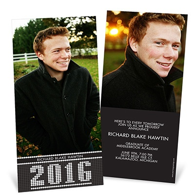 Year in Lights Vertical -- Graduation Announcements