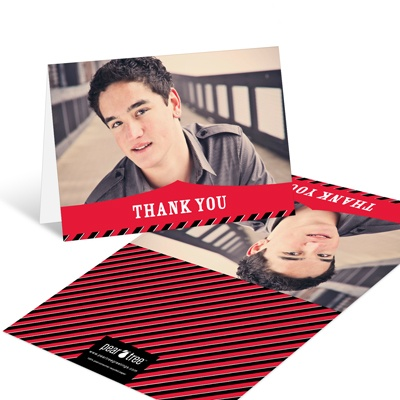 Bold Announcement Graduation Thank You Cards