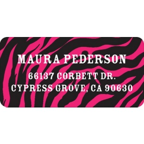 Wild Print -- Graduation Address Labels