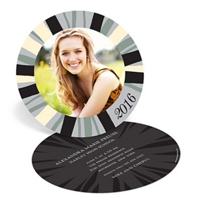 Painterly Stripes -- Graduation Announcements