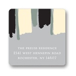 Painterly Stripes  -- Graduation Address Labels